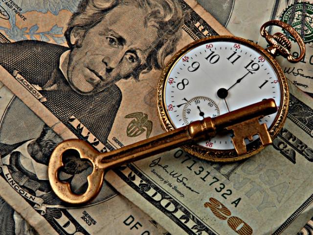 Открытка время-деньги